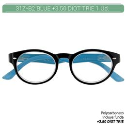 ZIPPO B-CONCEPT 31Z-B2-BLU350 READING GLASSES BLUE +3.50 DIOT TRIE 1 Ud. 230218