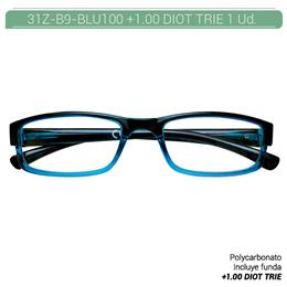 ZIPPO B-CONCEPT 31Z-B9 READING GLASSES BLUE +1.00 DIOT TRIE 1 Ud. 2005490