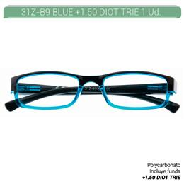 ZIPPO B-CONCEPT 31Z-B9 READING GLASSES BLUE +1.50 DIOT TRIE 1 Ud. 2005491