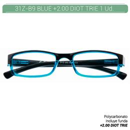 ZIPPO B-CONCEPT 31Z-B9 READING GLASSES BLUE +2.00 DIOT TRIE 1 Ud. 2005492