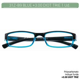 ZIPPO B-CONCEPT 31Z-B9 READING GLASSES BLUE +3.00 DIOT TRIE 1 Ud. 2005494