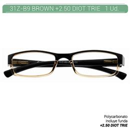 ZIPPO B-CONCEPT 31Z-B9 READING GLASSES BROWN +2.50 DIOT TRIE 1 Ud. 2005499
