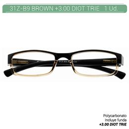 ZIPPO B-CONCEPT 31Z-B9 READING GLASSES BROWN +3.00 DIOT TRIE 1 Ud. 2005500