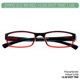 ZIPPO B-CONCEPT 31Z-B9 READING GLASSES RED +2.00 DIOT TRIE 1 Ud. 2005504