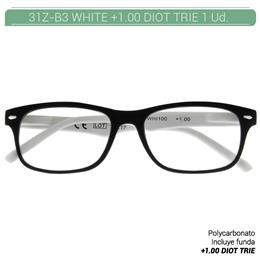 ZIPPO WHITE READING GLASSES +1.00 DIOT TRIE 1 Ud. 31Z-B3-WHI100 2004898