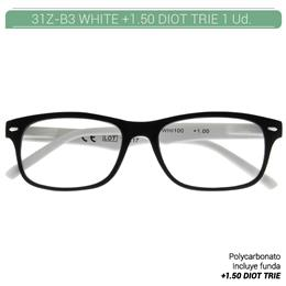 ZIPPO WHITE READING GLASSES +1.50 DIOT TRIE 1 Ud. 31Z-B3-WHI150 2004899