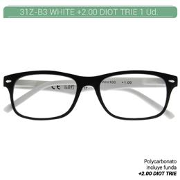 ZIPPO WHITE READING GLASSES +2.00 DIOT TRIE 1 Ud. 31Z-B3-WHI200 2004900