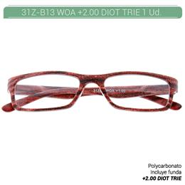 ZIPPO B-CONCEPT 31Z-B13-WOA READING GLASSES MAHOGANY +2.00 DIOT TRIE 1 Ud. 230218