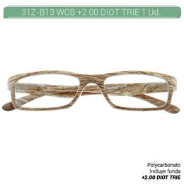 ZIPPO B-CONCEPT 31Z-B13-WOB READING GLASSES OAK +2.00 DIOT TRIE 1 Ud. 230218