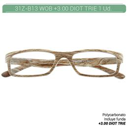 ZIPPO B-CONCEPT 31Z-B13-WOB300 READING GLASSES OAK +3.00 DIOT TRIE 1 Ud. 230218