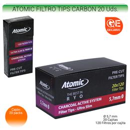 ATOMIC FILTROS TIPS CARBON 20 Uds. 01.63201