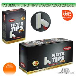 ATOMIC FILTROS TIPS ENGOMADOS 20 Uds. 01.62500
