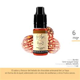 BOMBO E-LIQUID LA YAYA HELADO CHOCOLATE 06 mg 10 ml 1 Ud.