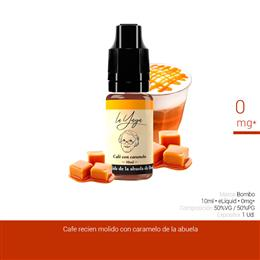 BOMBO E-LIQUID LA YAYA CAFE CON CARAMELO 00 mg 10 ml 1 Ud.