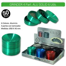 GRINDER 4 Part. CONEY ALU SOLID 55 mm. 6 Uds. 02.12445